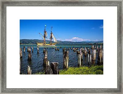 Tall Ship Lady Washington Framed Print by Robert Bynum