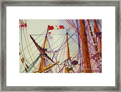 Tall Ship Lines Framed Print