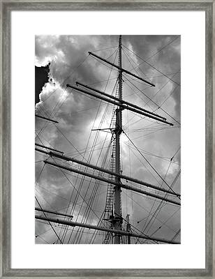 Tall Ship Masts Framed Print by Robert Ullmann