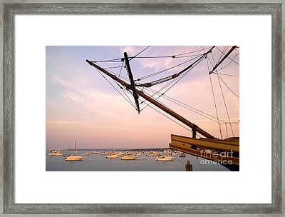 Tall Ship Mayflower II In Plymouth Massachusetts Framed Print by Matt Suess