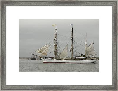Tall Ship Framed Print by Mimi Katz
