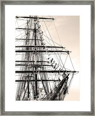 Tall Ship Framed Print by Paul Boroznoff