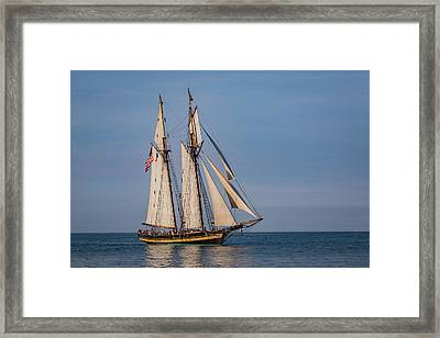 Tall Ship Pride Of Baltimore II Framed Print by Dale Kincaid