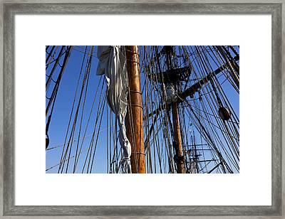 Tall Ship Rigging Lady Washington Framed Print by Garry Gay