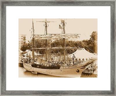 Tall Ship Series 6 Framed Print by Scott Hovind