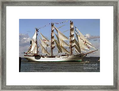 Tall Ship Framed Print by Robert  Torkomian