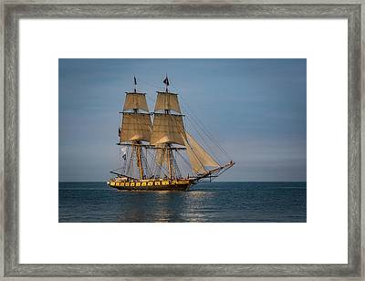 Tall Ship U.s. Brig Niagara Framed Print
