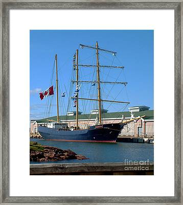 Framed Print featuring the photograph Tall Ship Waiting by RC DeWinter