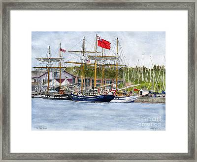 Framed Print featuring the painting Tall Ships Festival by Melly Terpening
