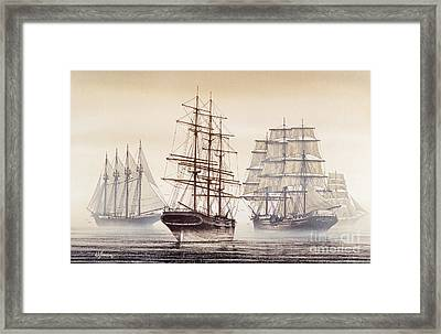 Tall Ships Framed Print by James Williamson