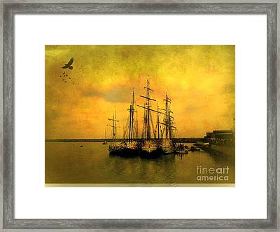 Tall Ships Of Dana Point Framed Print by Kevin Moore