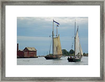 Tall Ships Sailing II Framed Print by Suzanne Gaff