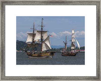 Tall Ships Square Off Framed Print