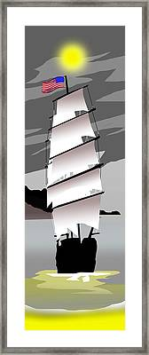 Tall Ships Stars And Stripes Framed Print
