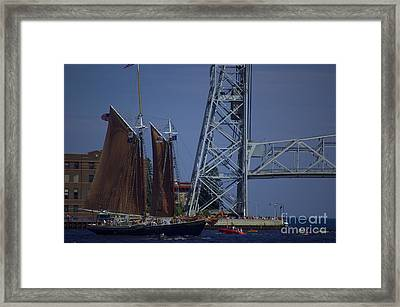 Tall Ships Framed Print by The Stone Age
