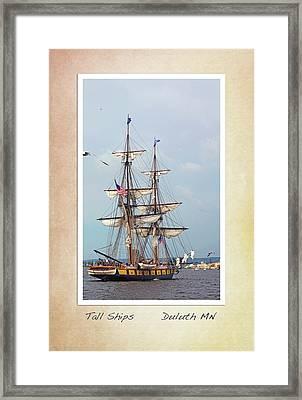 Tall Ships V1 Framed Print by Heidi Hermes