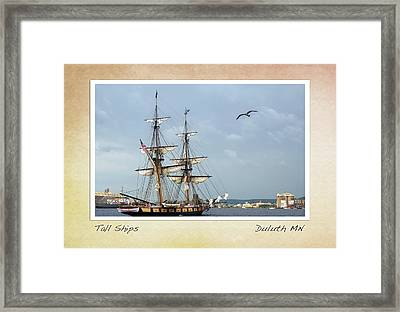 Tall Ships V3 Framed Print by Heidi Hermes