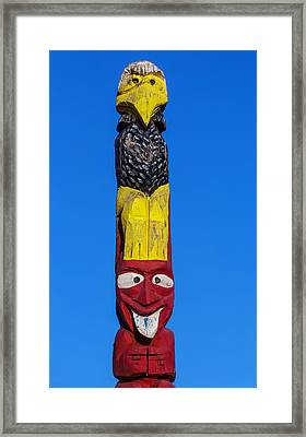 Tall Totem Pole Framed Print by Garry Gay