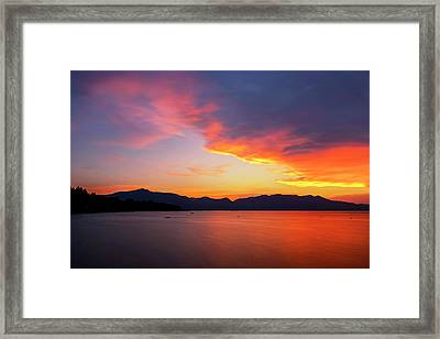 Framed Print featuring the photograph Tallac On Fire by Brad Scott