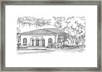 Tallahassee Womens Club Framed Print
