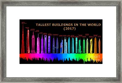 Tallest Buildings Framed Print