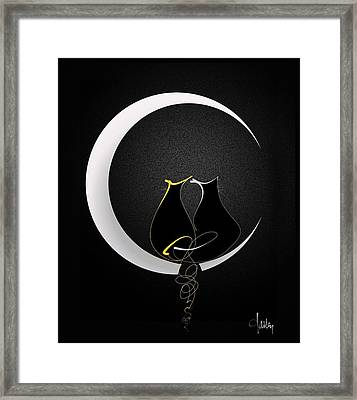 Talleycats - Moonglow Framed Print