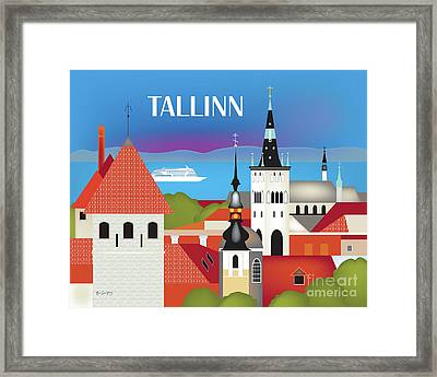 Tallinn Estonia Horizontal Scene Framed Print by Karen Young