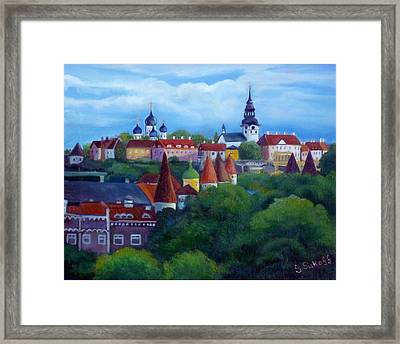Tallinn Estonia Framed Print by Janet Silkoff