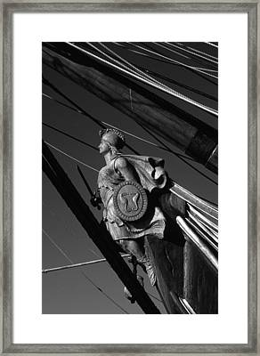 Tallship Figure Head Framed Print