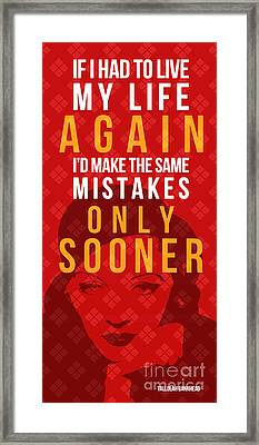 Tallulah Bankhead Quote - If I Had Framed Print by Pablo Franchi