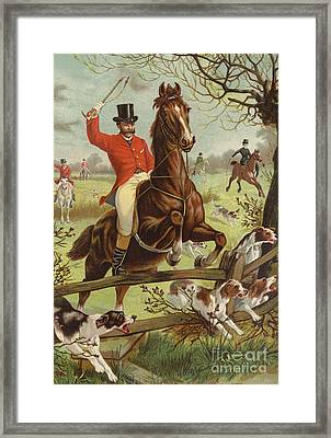 Tally Ho Framed Print by English School