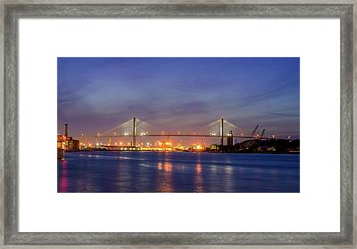 Talmadge Memorial Bridge Framed Print by Rob Sellers