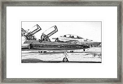 Talon Vs. Hornet Framed Print by Ricky Barnard