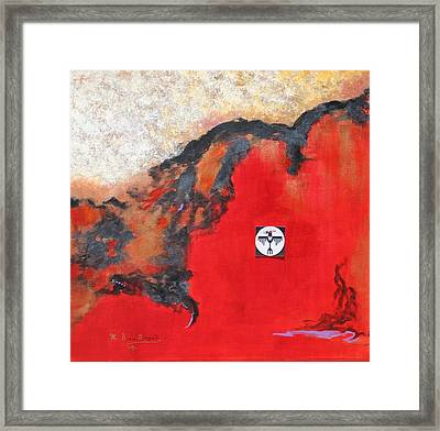 Framed Print featuring the painting Talons Of Prey by M Diane Bonaparte