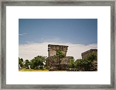 Talum Ruins11 Framed Print by Douglas Barnett