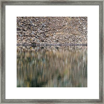Framed Print featuring the photograph Talus Reflection by Alexander Kunz