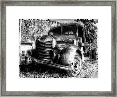 Tam Truck Black And White Framed Print