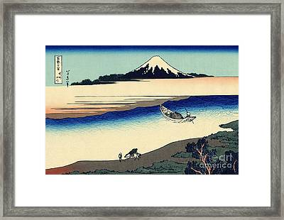 Tama River In The Musashi Province Framed Print by Hokusai