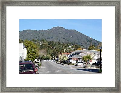 Framed Print featuring the photograph Tamalpais From Mill Valley by Ben Upham III