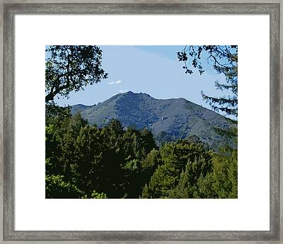 Tamalpais...the Sleeping Princess Framed Print by Ben Upham III