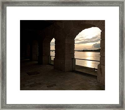 Tamar Estuary Sunset Framed Print
