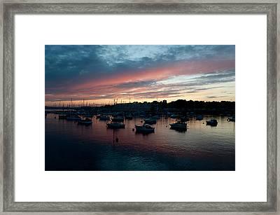 Tamar Sunset Framed Print by Helen Northcott