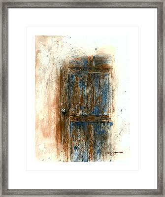 Tamarack Door Framed Print by Jimmy Magouirk