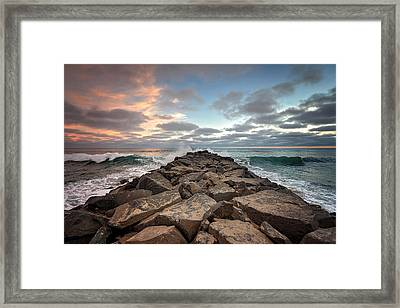 Tamarack Jetty Framed Print by Ann Patterson