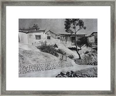 Tambo Framed Print by Estephy Sabin Figueroa