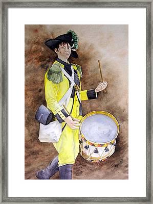 Tambour Canaris Namurois Framed Print