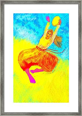 Tambourine Joy 1 Framed Print by Chana Helen Rosenberg