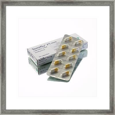 Tamiflu Capsules Framed Print by Mark Sykes