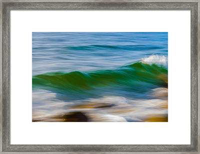 Taming The Waves Framed Print