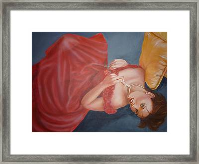 Framed Print featuring the painting Tammy by Bryan Bustard